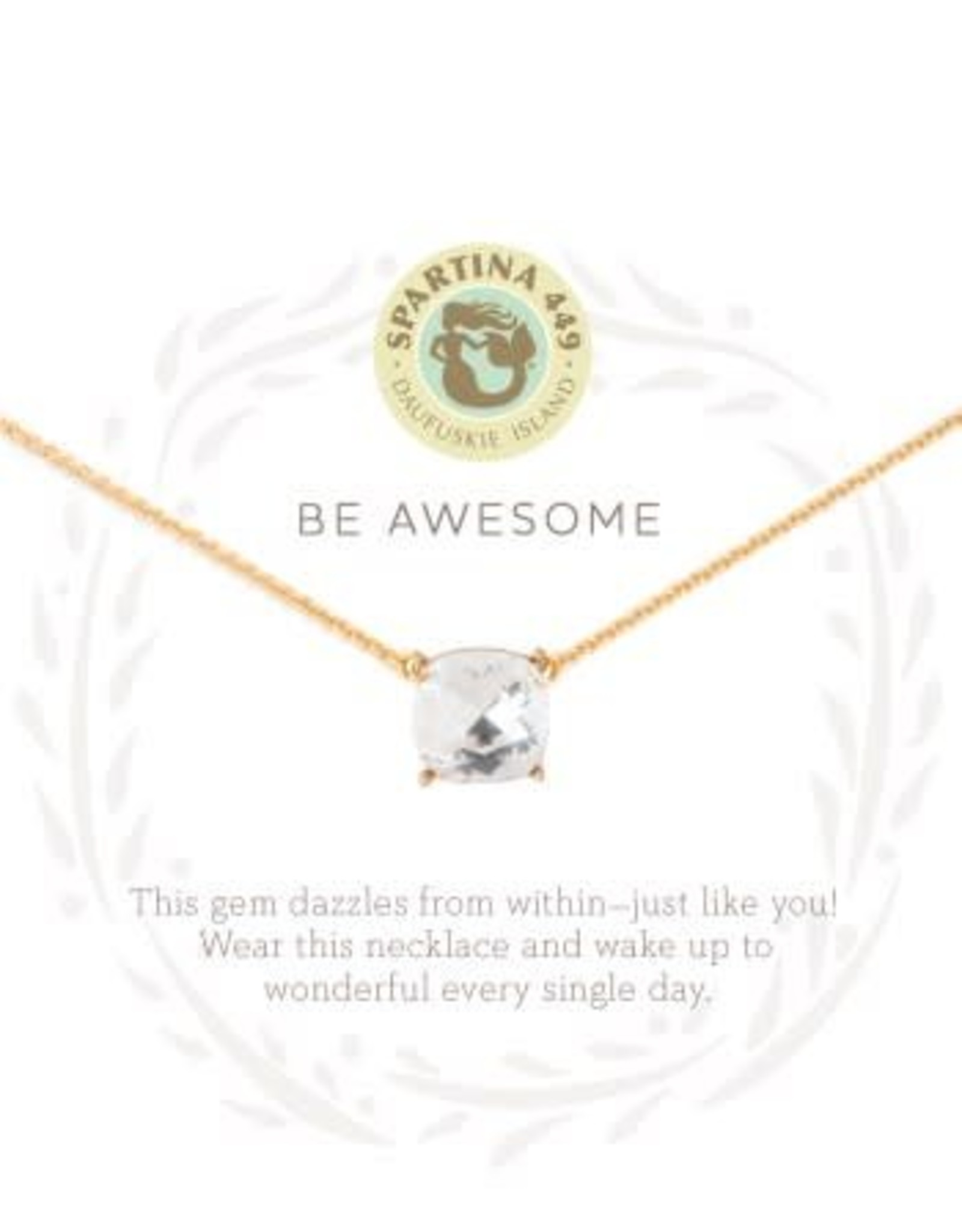 Spartina Awesome/Crystal Necklace GLD
