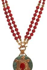 Patrice African Jade Tortoise Round Necklace