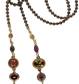 Patrice Multi-Jeweled Lariat Necklace