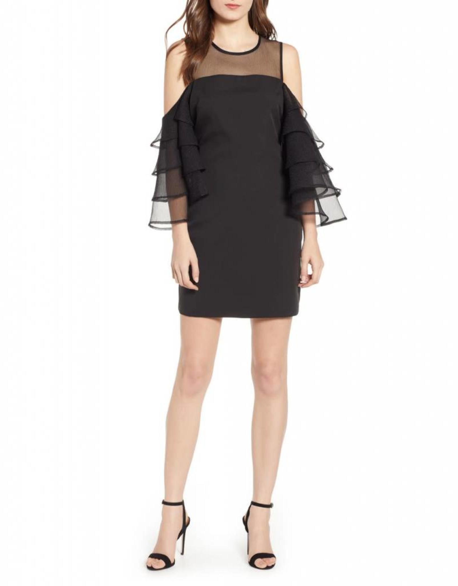 Organza Tiered Sleeve Dress