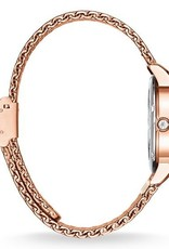 Thomas Sabo Stainless Steel Rose Gold Red Dial Watch
