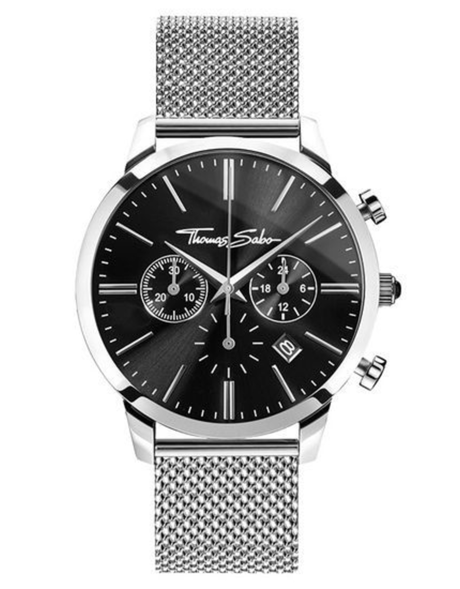 Thomas Sabo Stainless Steel Black Dial Watch