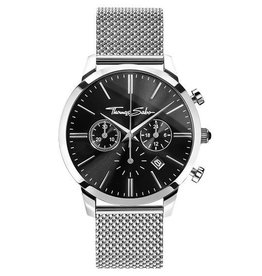 Thomas Sabo Stainless Steel Black Dial Watch