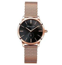Thomas Sabo Stainless Steel Rose Gold Dial Black Watch