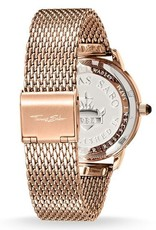 Thomas Sabo Stainless Steel Rose Gold Dial Black Watch