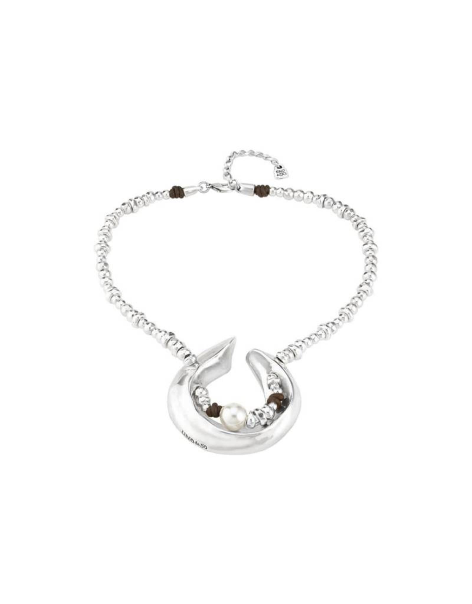 Uno de 50 Half Moon Necklace