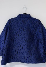 IC Collection Blue and Black Texture Jacket