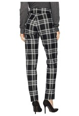 Krazy Larry Pant Black and White Plaid Pull on Pant