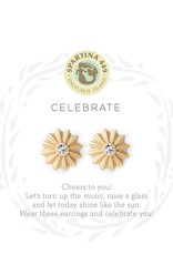 Spartina Celebrate/Sunburst Stud GLD Earrings