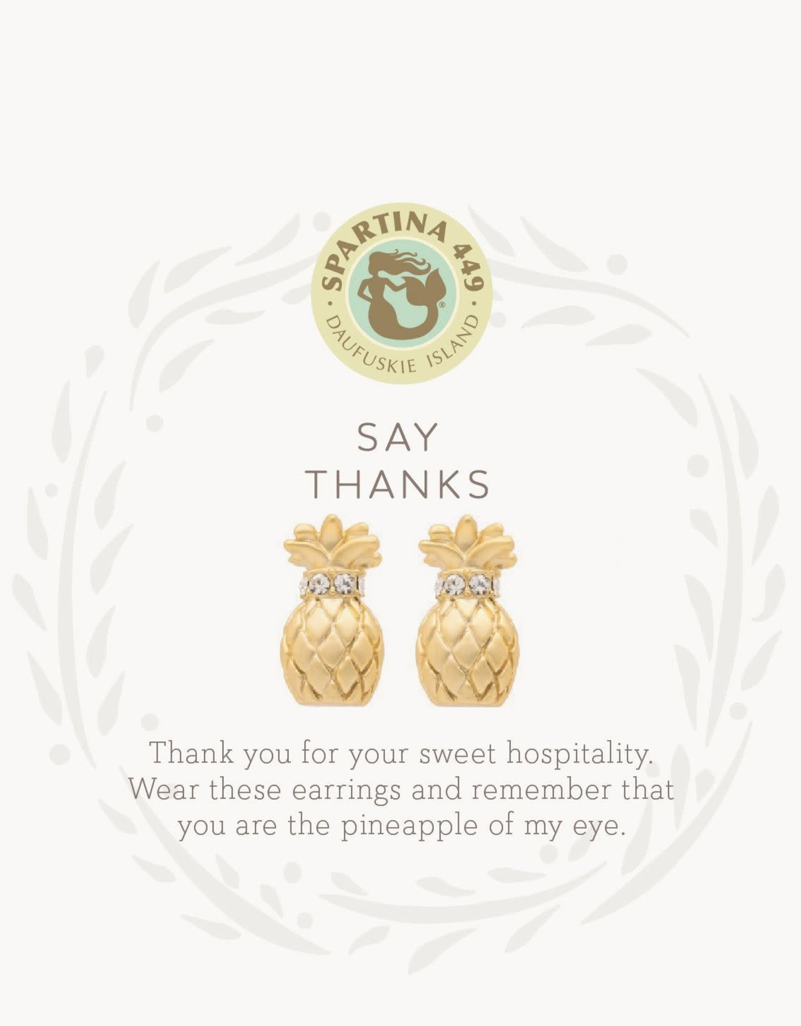 Spartina Thanks/Pineapple Stud Earrings