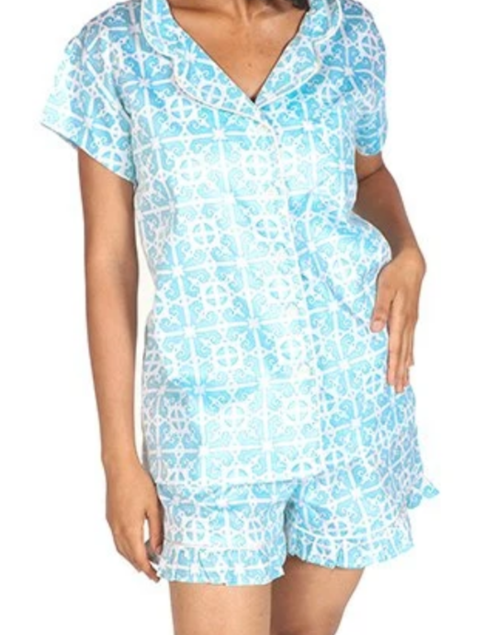 Jaye's Studio Garden Gate Ruffled Summer Pajama Set