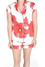 Jaye's Studio Poppies on Parade Ruffled Summer Pajama Set