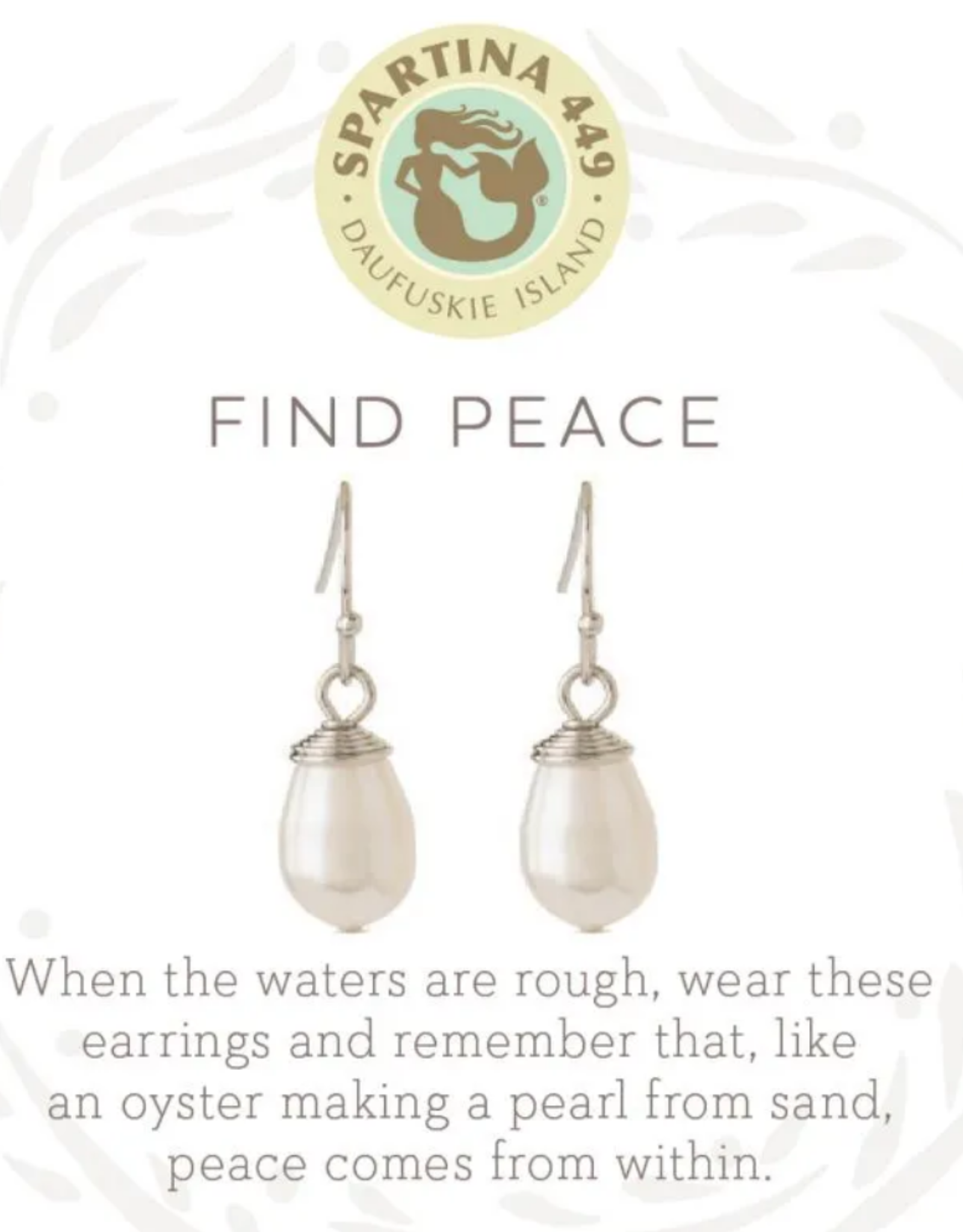 Spartina Sea La Vie Drop Earrings Find Peace SIL