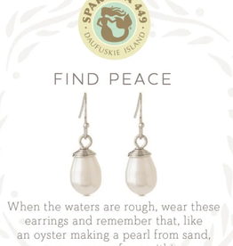 Spartina Sea La Vie Drop Earrings Find Peace SIL