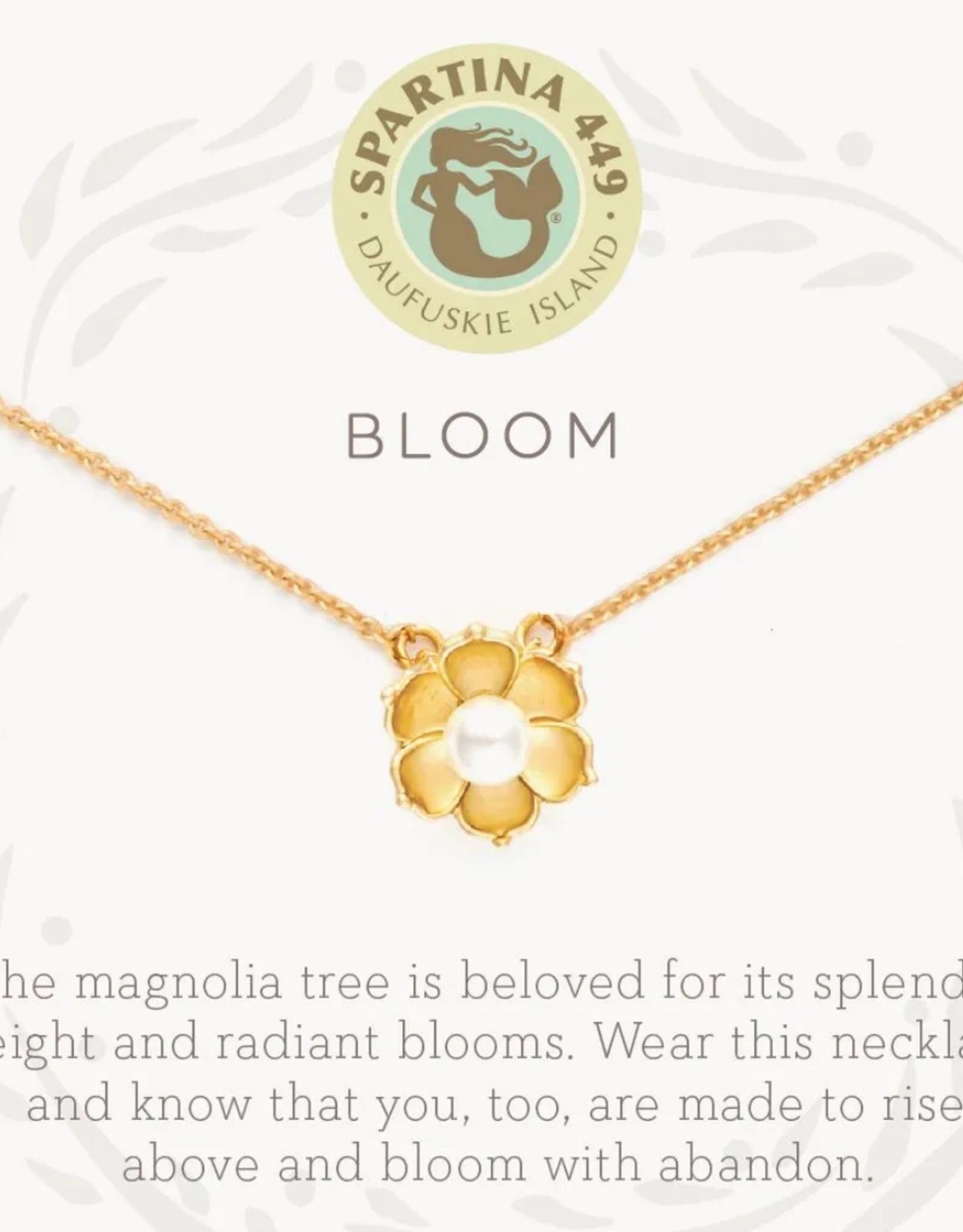 """Spartina Sea La Vie Necklace 18"""" Bloom/Magnolia Flower"""