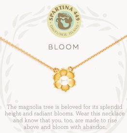 "Spartina Sea La Vie Necklace 18"" Bloom/Magnolia Flower"