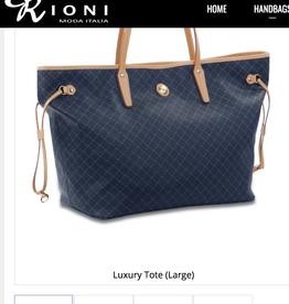 Rioni Navy Luxury Tote Large