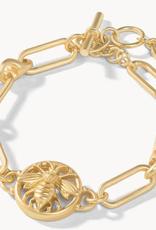 Spartina Sticky Bee Toggle Bracelet Gold