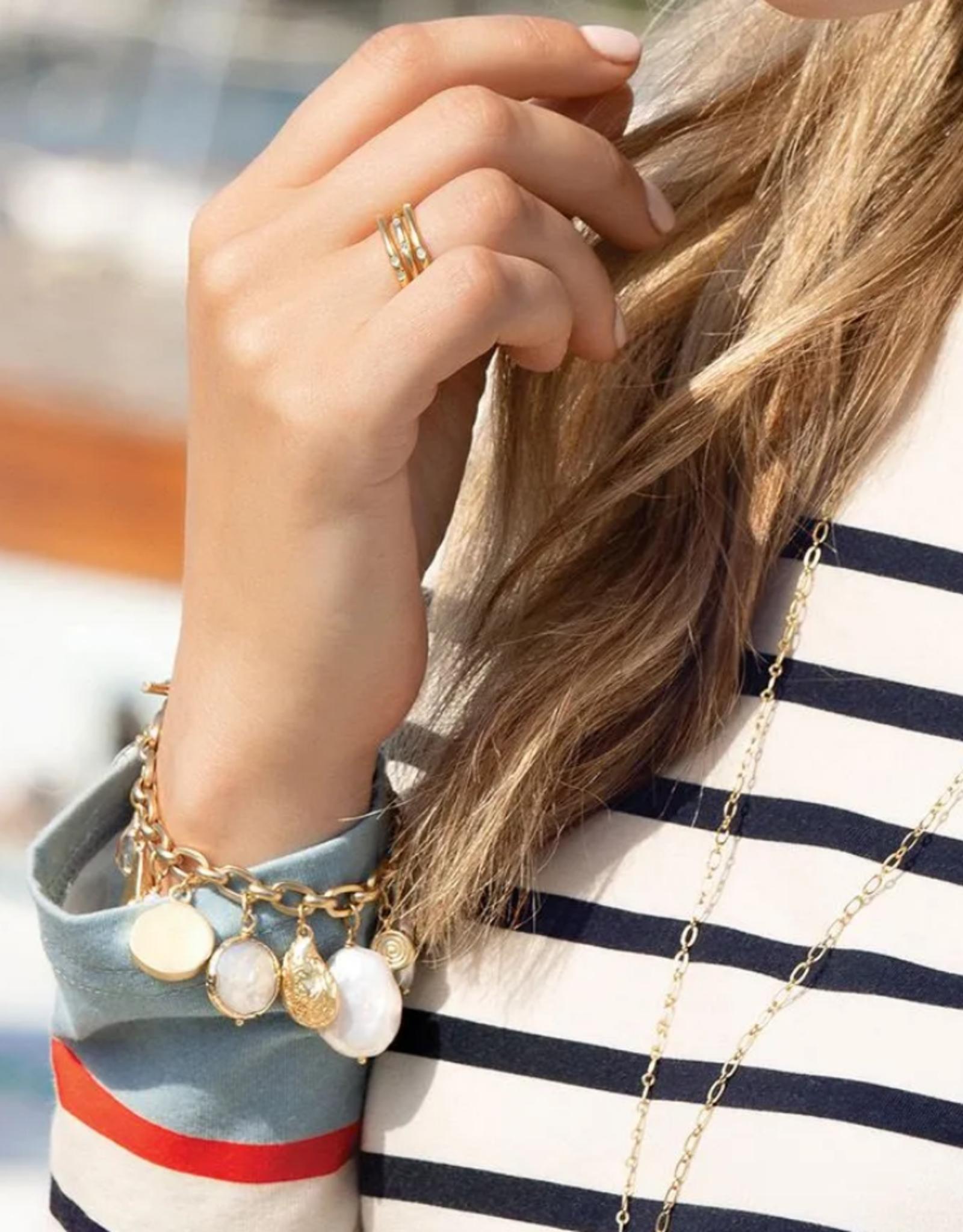 Spartina Pearl Charm Toggle Bracelet