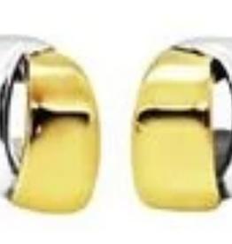 Simon Sebbag Designs TwoTone Overlapping Clip Earrings