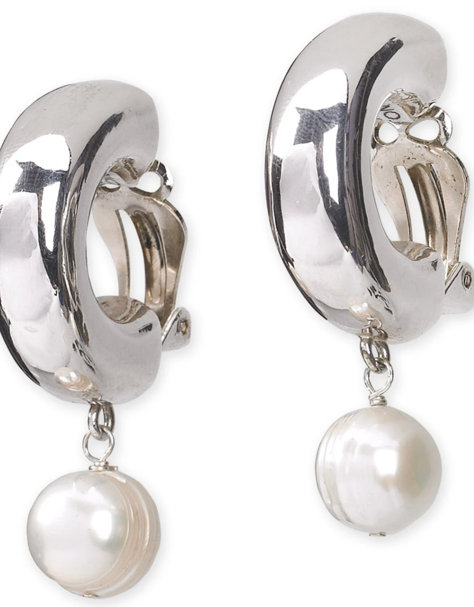 Simon Sebbag Designs Clip White Shell Pearl Tr Drp Earrings