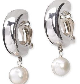 Simon Sebbag Designs Clip White Shell Pearl Tr Drp Earrings