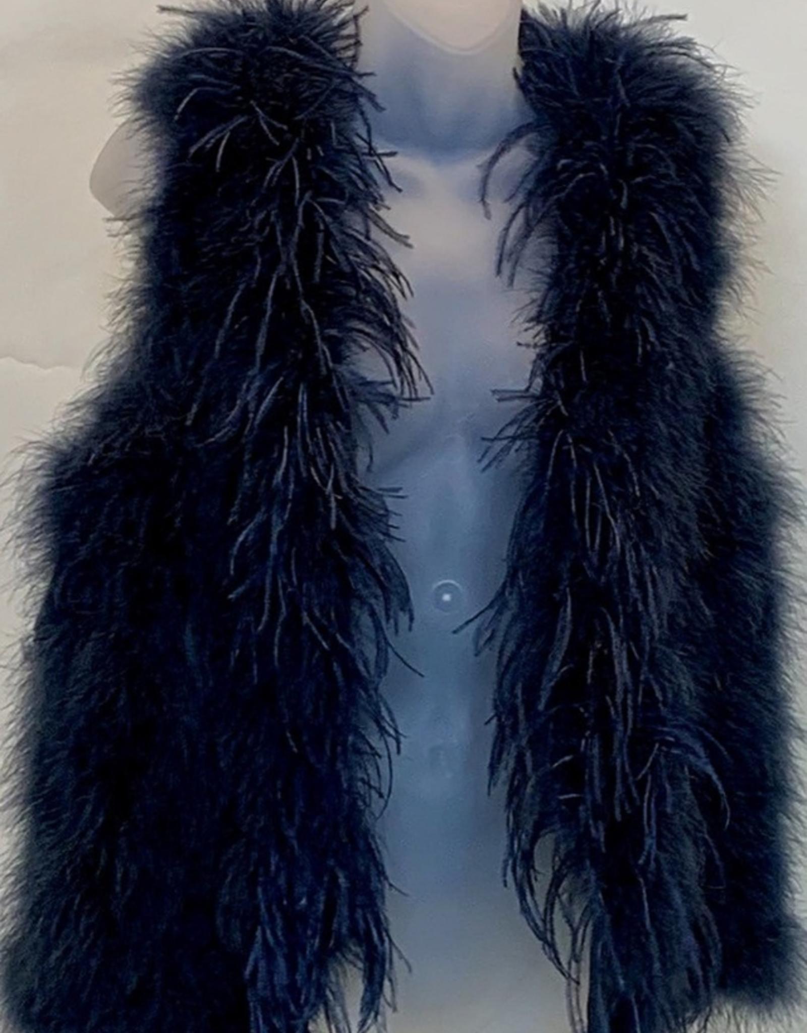 German Fuentes Gen. Ostrich & Turkey Feather Vest