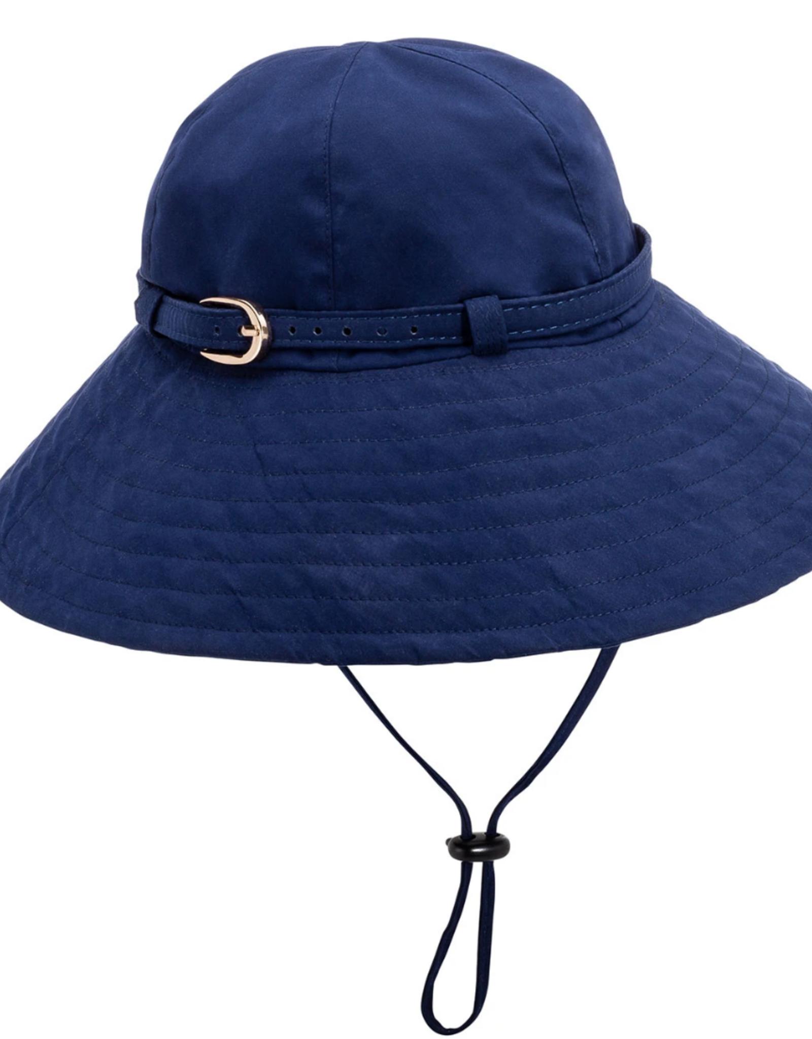 Vinrella Matte Navy Rain/Sun Hat w/Chin Strap