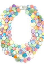 Sea Lily 5 Strand Mother of Pearl Fruit Salad Necklace