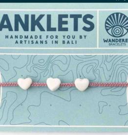 Wanderer Bracelets Beaded Hearts Anklet