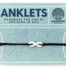 Wanderer Bracelets Infinity Anklet - Black