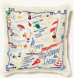 Spartina Down the Shore Embroidered Pillow