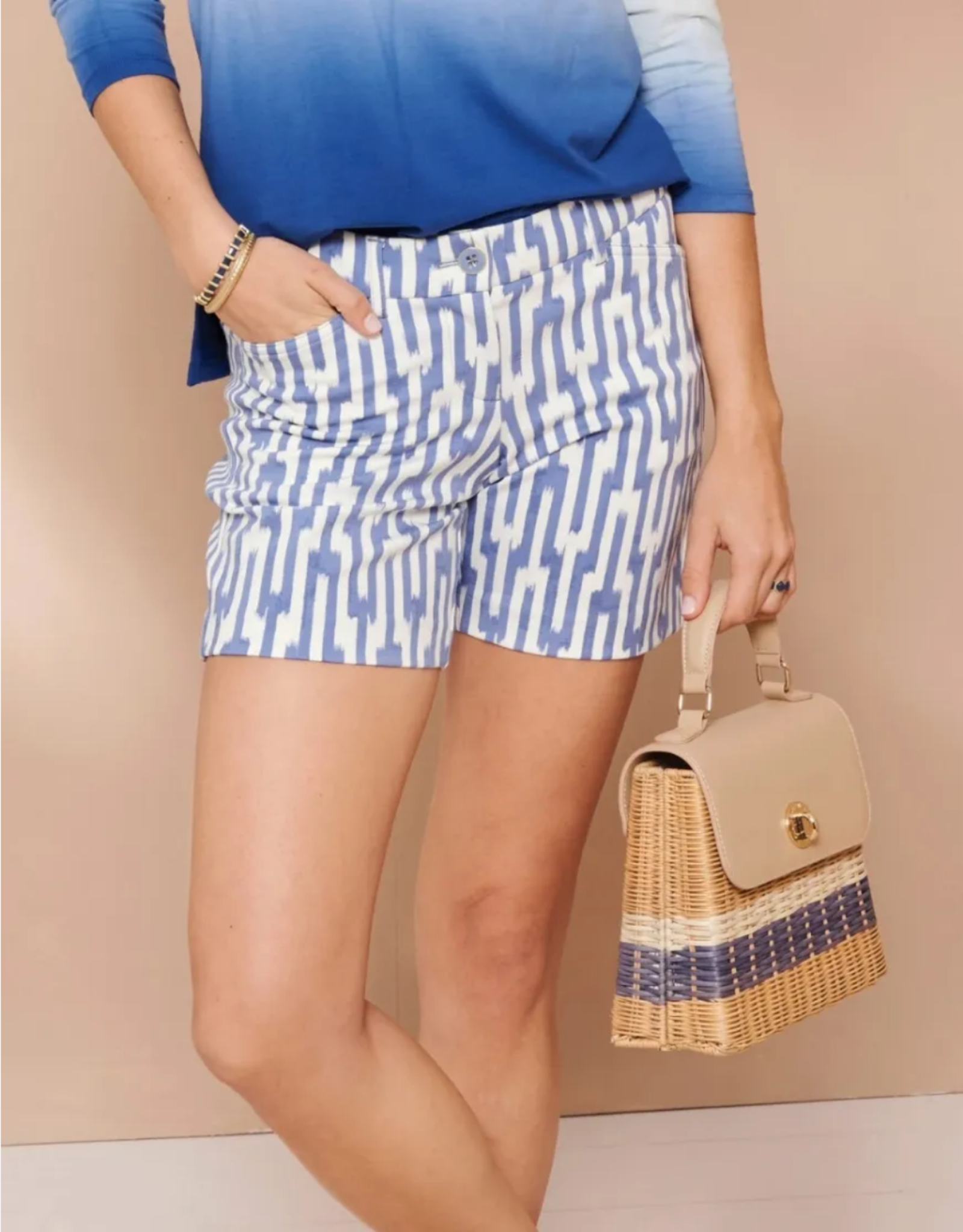 Spartina Oyster Alley Rattan Top Handle Crossbody