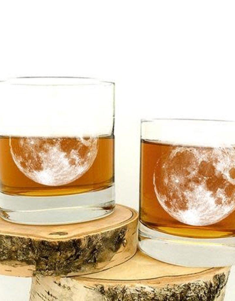 Full Moon Whiskey Glass