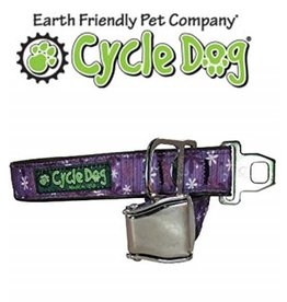 Cycle Dog Retro Purple Flowers With Latch-Lock Metal Buckle