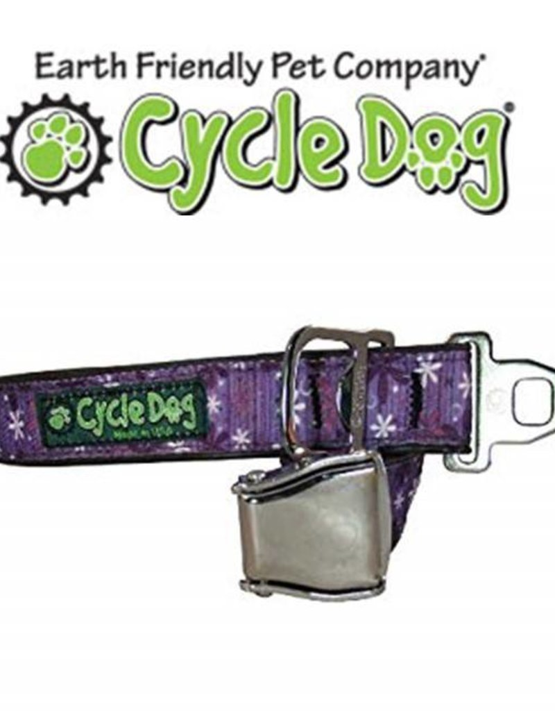 Cycle Dog Retro Purple Flowers With Latch-Lock Metal Buckle