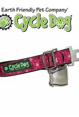 """Cycle Dog Retro Pink Flowers with Latch Lock Metal Buckle Large 17""""-27"""""""