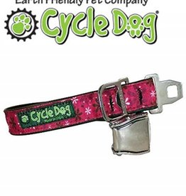 "Cycle Dog Retro Pink Flowers with Latch Lock Metal Buckle Large 17""-27"""