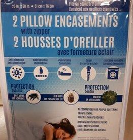 Safdie Protection d'Oreiller Anti-Punaises de Lit (2)