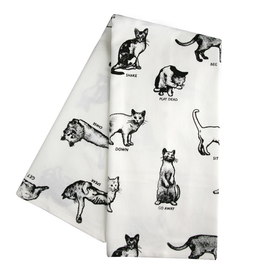 Dish Towels Cats Command Tea Towel