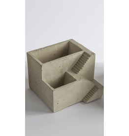 Containers Double Opening Cement Stair Planter
