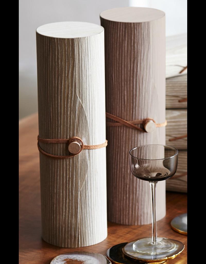 Gift Bags Cerused Oak Bottle Cylinder