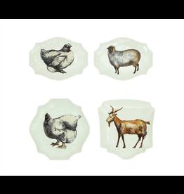 Plates Stoneware Barn Animal Plates
