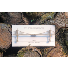 Wall Decor St. Johns Bridge 3D Card