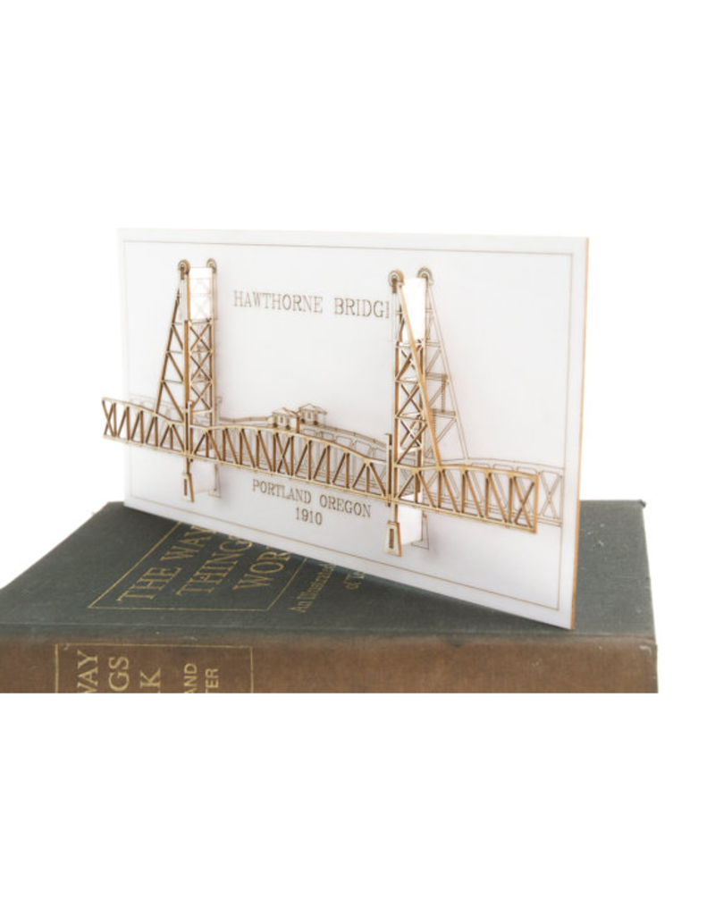 Wall Decor Hawthorne Bridge 3D Card