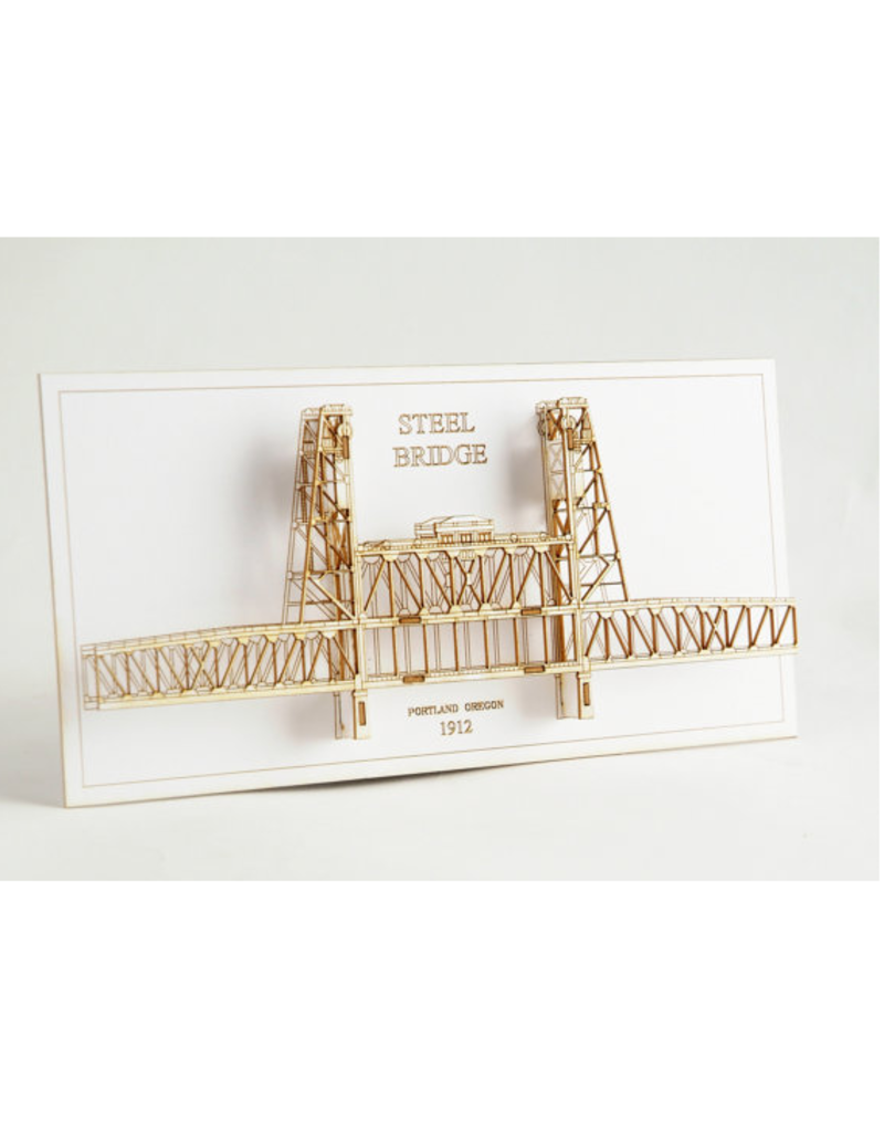 Wall Decor Steel Bridge 3D Card