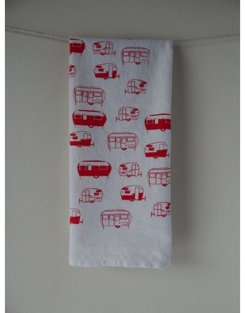 Tea Towels Red Campers Tea Towel