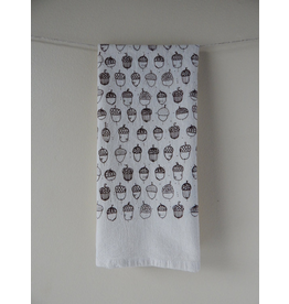 Tea Towels Brown Acorn Tea Towel