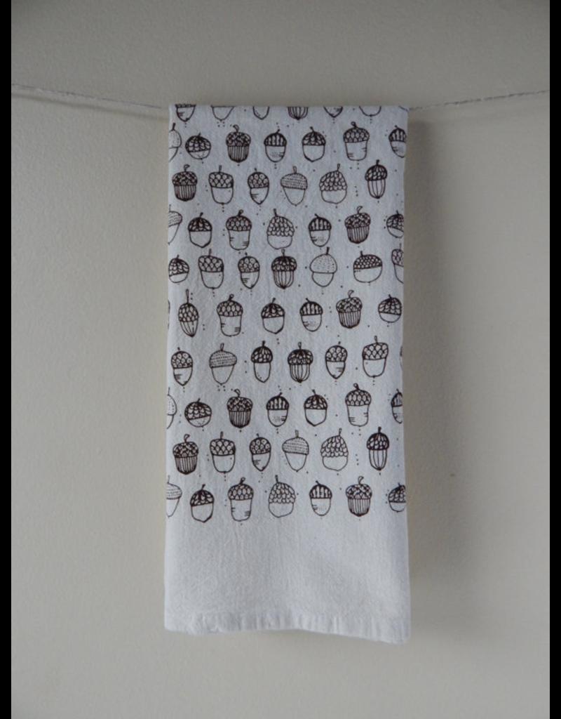 Tea Towels Brown Acorn Tea Towel