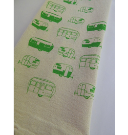 Tea Towels Green Campers Tea Towel